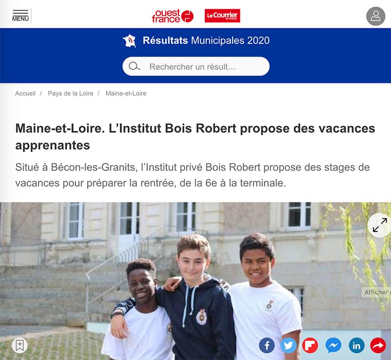 Vacances Apprenantes à l'Institut Bois Robert à 1h30 de Paris