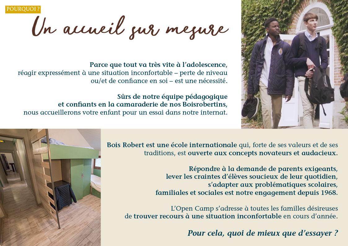 Bois Robert Open Camp Internat Collège Lycée