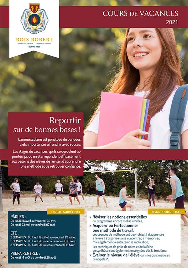 Bois Robert Cours de vacances Stages de révision Collège et lycée